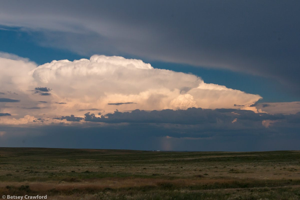 Night falls in the Pawnee National Grasslands, Colorado