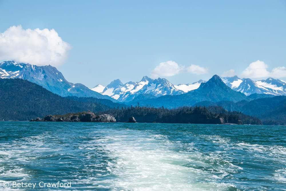 Crossing Kachemak Bay to Homer from Peterson Bay