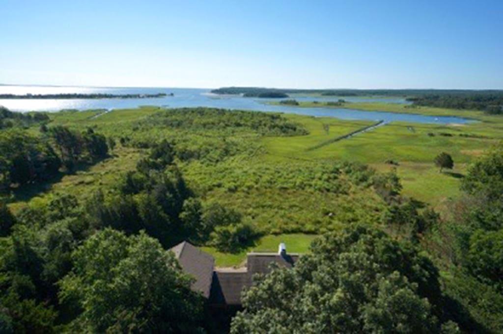 Summer beauty on Accabonac Harbor, East Hampton, New York by Betsey Crawford