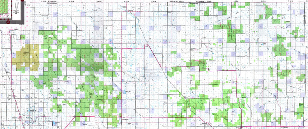 Map of the Pawnee National Grasslands, Colorado, courtesy of the US Forest Service