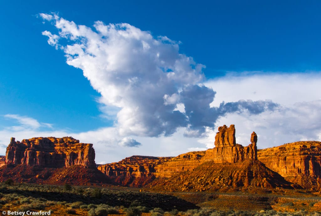 Valley of the Gods in southeastern Utah by Betsey Crawford