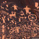 Newspaper Rock petroglyphs, Monticello, Utah by Betsey Crawford
