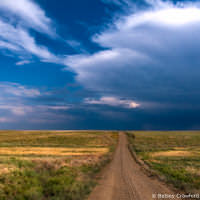 Driving through the Pawnee National Grasslands in northeast Colorado by Betsey Crawford