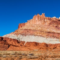 Rock formations from the road in southern Utah by Betsey Crawford