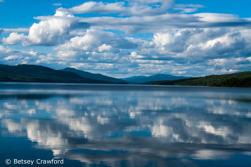 Clouds reflected in Dease Lake, British Columbia