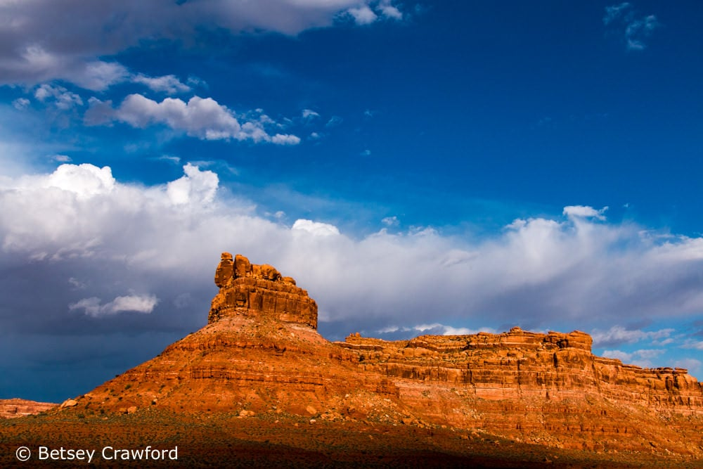 Red rock formation in the Valley of the Gods in southern Utah by Betsey Crawford