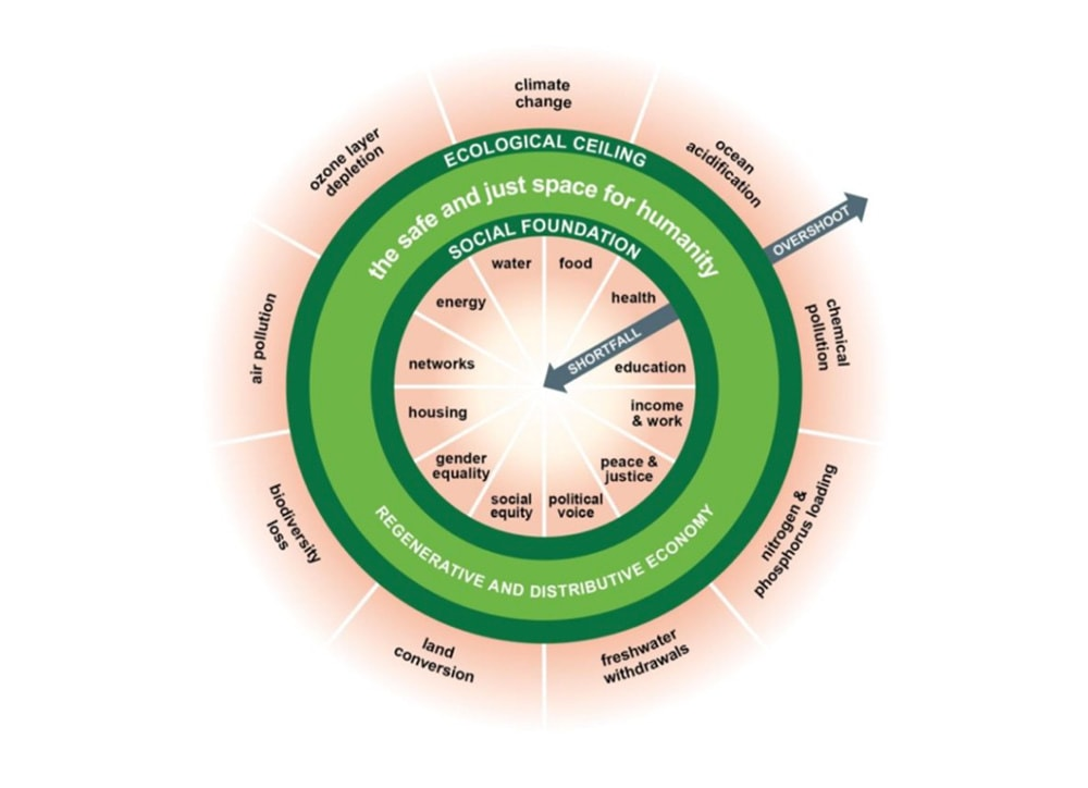 A view of the doughnut from Kate Raworth's Doughnut Economics