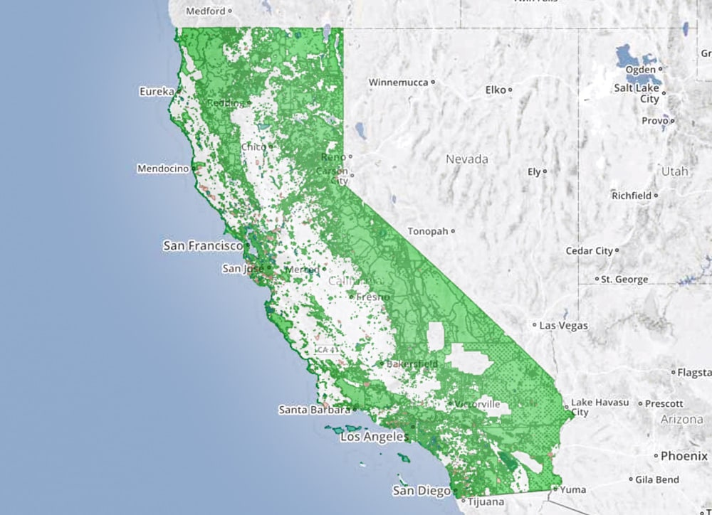 Saving half earth: Map from California Protected Areas Database