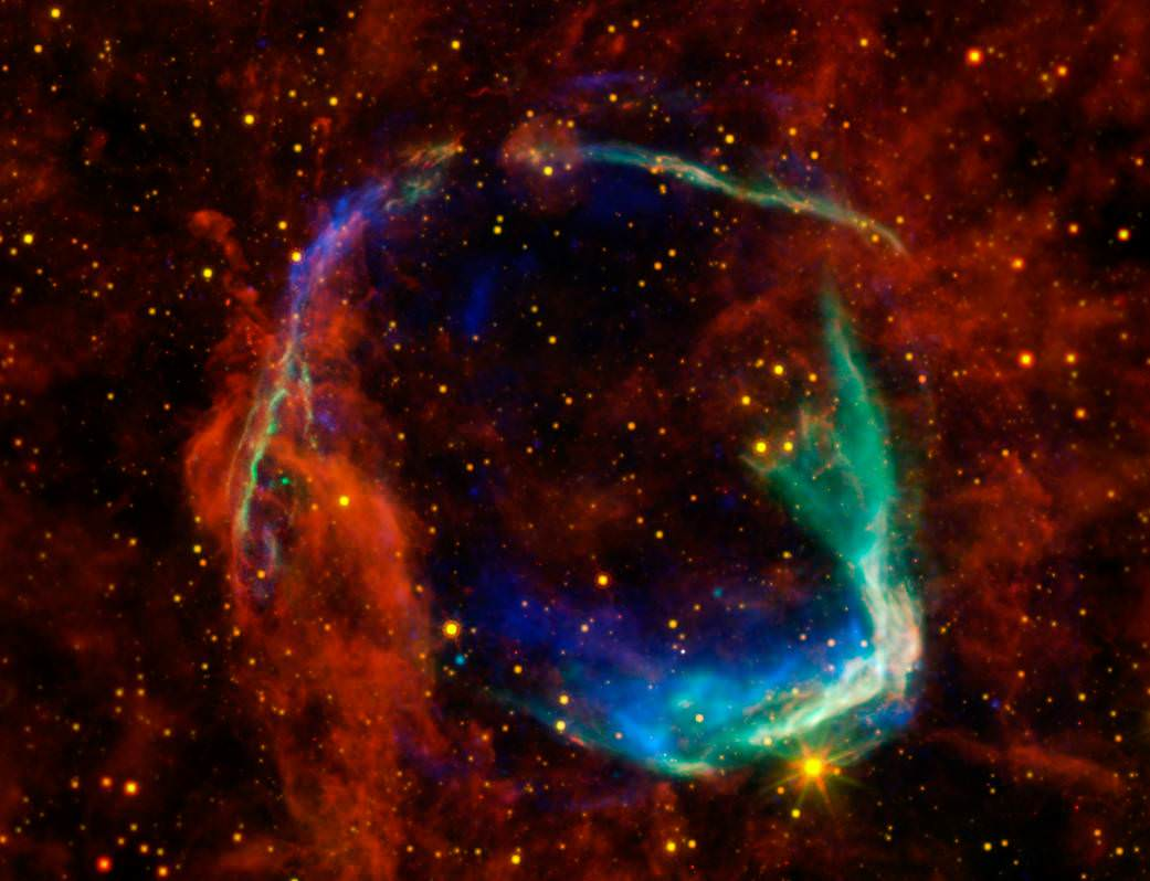 Cataclysm: the death of a star forms a supernova. Photo via NASA