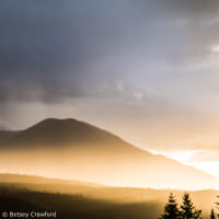 Sunset in Donald, British Columbia by Betsey Crawford