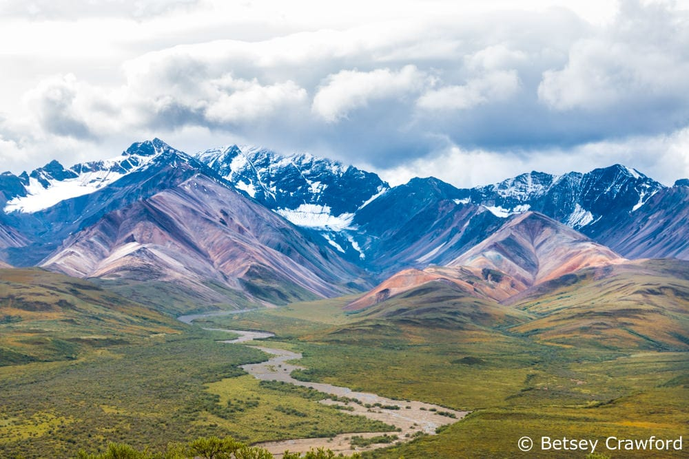 River valley in Denali National Park, Alaska by Betsey Crawford