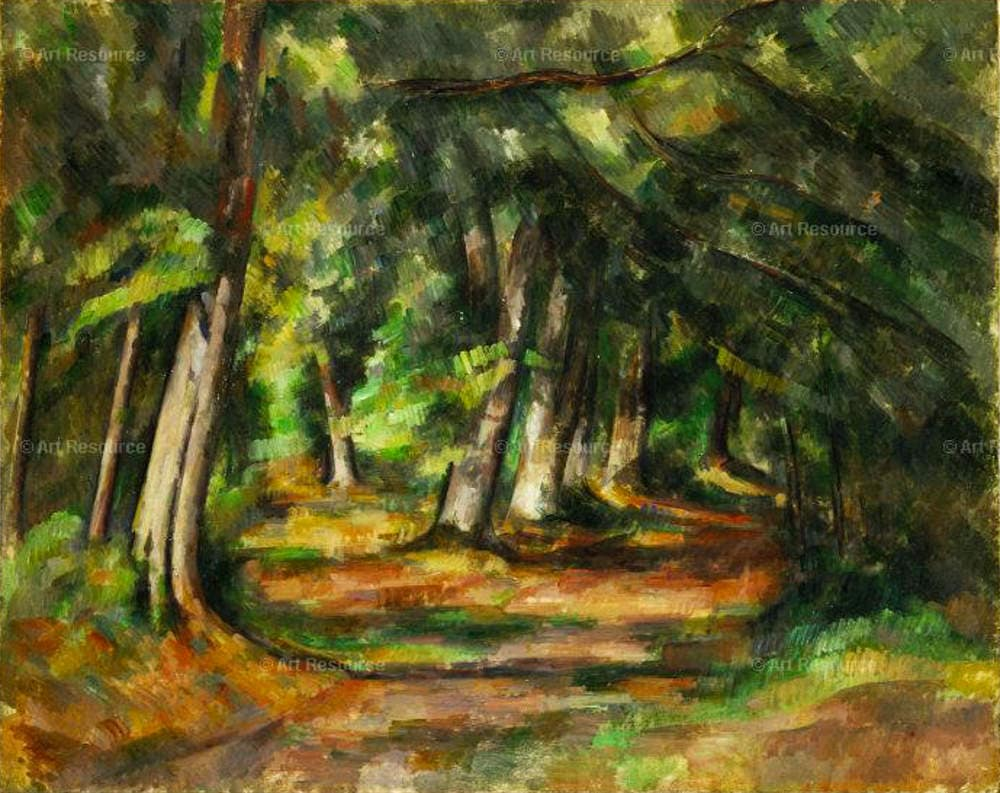 Cezanne, shamans, plant intelligence: Forest Path by Paul Cezanne (c. 1892) Private Collection