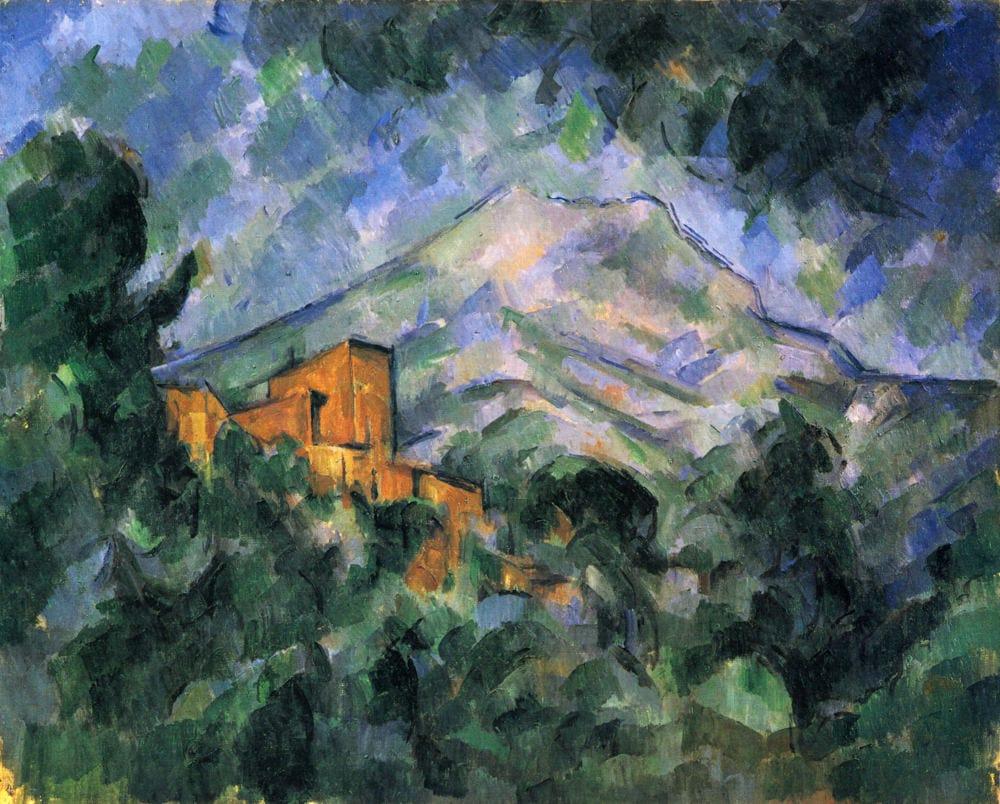 Cezanne, shamans, plant intelligence: Mont Sainte Victoire and the Chateau Noir by Paul Cezanne (c.1905) Bridgestone Museum of Art, Tokyo