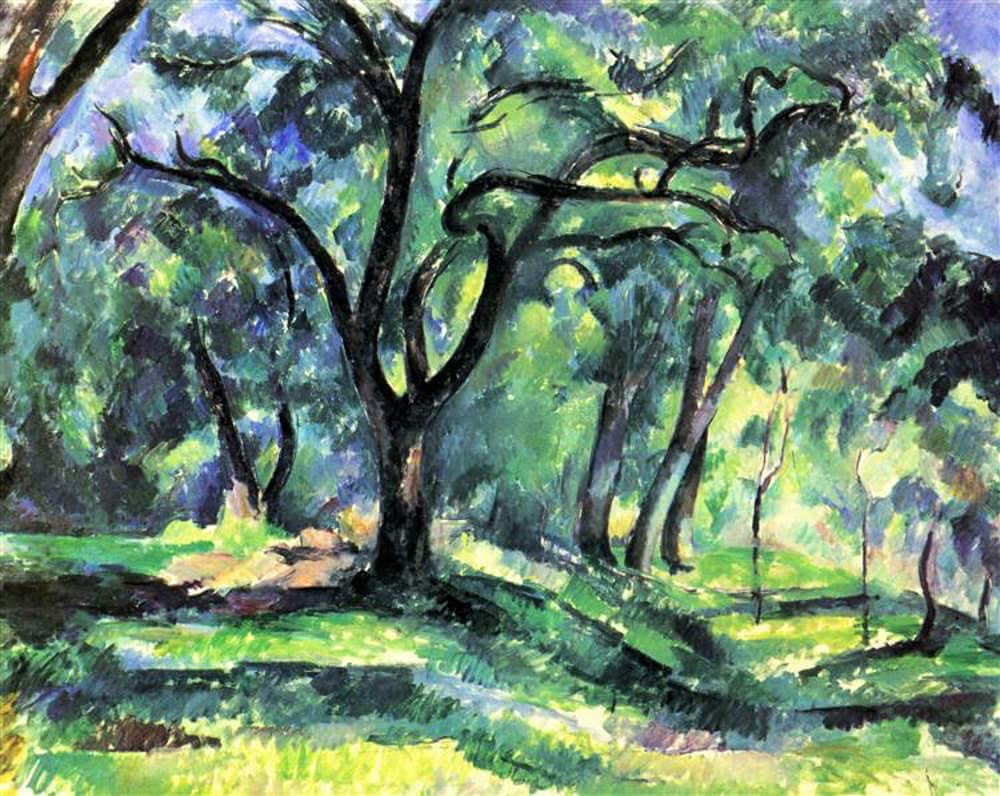 Forest by Paul Cezanne (c. 1890) White House Collection, Washington, D.C.