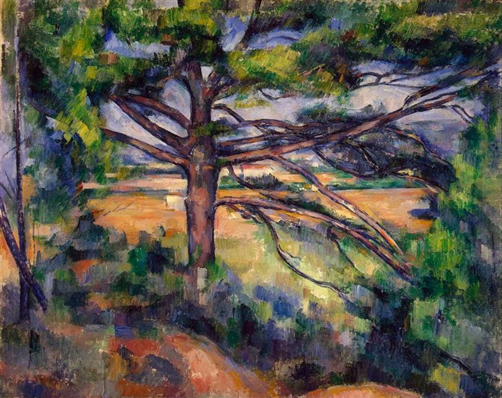 Large pine and red earth by Paul Cezanne (1895) Hermitage Museum, Saint Petersburg