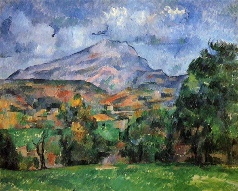 Cezanne, shamans, plant intelligence: Mont Sainte Victoire by Paul Cezanne; private collection